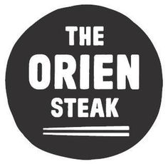 The Orien Steak #circle #korea #branding #bold #food #black #logo #block #korean #type