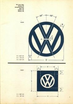 FFFFOUND! | Designspiration — Vintage VW Logo & Brand Specifications | your creative logo designer