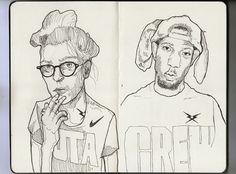 Moleskine/Girl&Boy #glasses #smoke #girl #shop #moleskine #rap #hip #crew