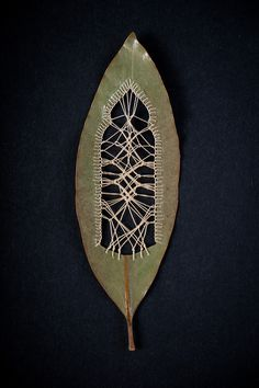 Stitched Leaves by Hillary Fayle leaves embroidery