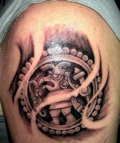 Meanings of Aztec tattoos #meanings #aztec #tattoos