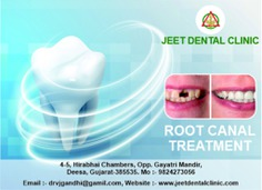Best dental treatment for root canal in deesa. Dr. Jaimin Gandhi provides affordable treatment for root canal in Deesa, India, at low cost. We have most experienced dentists for root canal treatment Call at +91 9824273056 or visit us at jeetdentalclinic.com to book a Appointment with us.