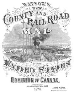 via David Rumsey Map Collection #train #ornate #map #vintage #type #typography