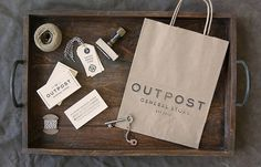 Outpost #logotype #identity #stationery