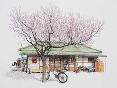 Me Kyeoung Lee Spends 20 Years Sketching South Korean Convenience Stores