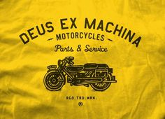 Neighborhood Studio DEUS EX MACHINA #jinkins #machina #shirt #curtis #ex #illustration #motorcycle #dues