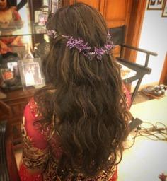 Waterfall Braid With A Lavender Tiara