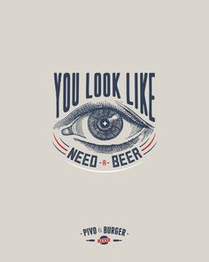 beer and burger poster