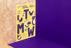 Tallinn Music Week by AKU #poster #print #typography