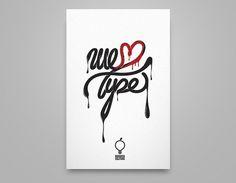 We love type. on the Behance Network #guzman #we #illistration #alan #type #love