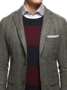 nickelcobalt:GANT by Michael Bastian Prince of Wales Two Button Blazer at Park #style