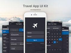 Travel App UI Kit Sketch