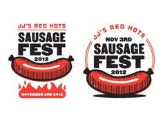 Sausagefest #flames #vector #sausage #fest #illustration #weiner #logo