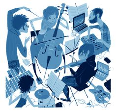 Leo Espinosa My first piece for The New Yorker #illustration #music #new yorker #orchestra