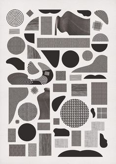 Pattern Alphabet. | momogoods. #poster #geometric #black and white #pattern