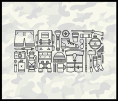 Get your shit, we are going camping #design #icon #icons #summer #cool #camo #camping #camp vibes