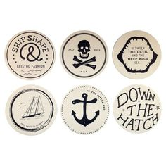 Drunken Sailor Coasters #tech #gadget #ideas #gift #cool