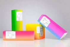Bermellón designed by Anagrama #packaging #fluro #gradient