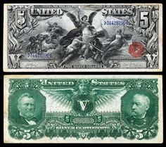 United States 1891 $5 Silver Certificate #currency #ephemera