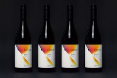 wine, gradient, packaging