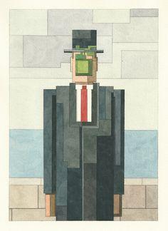 8-Bit Watercolor Paintings by Adam Lister
