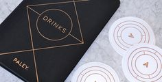 Paley restaurant identity los angeles usa branding corporate design business card print restaurant bar logo logotype interior designer minim