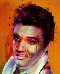 Digital Elvis portrait by Neil duerden