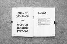 Typeface Brutalist Grotesque on Behance