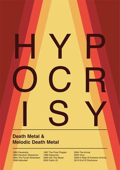 Hypocrisy (death metal) poster inspired by Swiss Style design. #swissstyle #internationalstyle