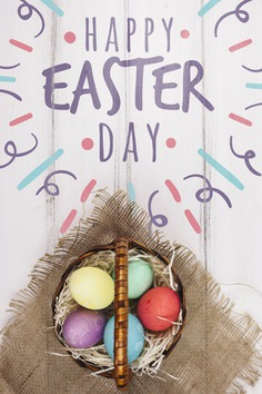 Happy easter day Free Psd. See more inspiration related to Mockup, Template, Typography, Spring, Celebration, Happy, Font, Holiday, Mock up, Easter, Religion, Egg, Basket, Calligraphy, Lettering, Traditional, Cloth, View, Up, Day, Top, Top view, Nest, Cultural, Tradition, Streamer, Mock, Seasonal and Paschal on Freepik.