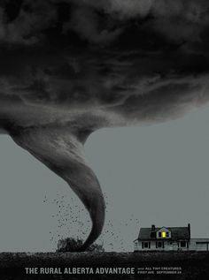 Brian Danaher ::: Design / The Rural Alberta Advantage First Ave Gig Poster #tornado #advantage #alberta #gig #print #the #screen #rural #poster