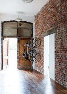 Tumblr #interior #brick #bike #bicycle