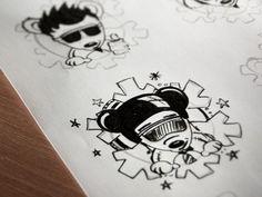 Dribbble - Logotype variation by Agata Kuczminska #sketches #bear #drawing #snowboard