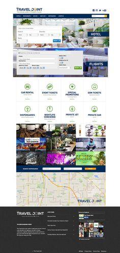 The Travel Joint Website #tourism #branding #design #travel #advertising #website #cannabis #clean #web #online