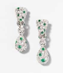 Brillant-Smaragd-Ohrclips