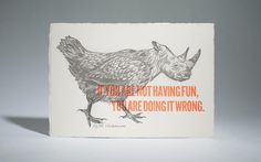The Chickenoceros by Cecilia Hedin #quote #letterpress #hybrid #chickenoceros #hedin #cecilia #fun #animal
