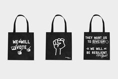 Rock The Vote We Will Campaign on Behance #rock #the #identity #vote #bag