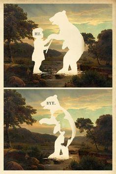 hi bear bye bear #bear #river #bye #landscape
