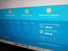 Footer #webdesign #interface #navigation #footer