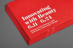 Innovating with Beauty #brochure #typography
