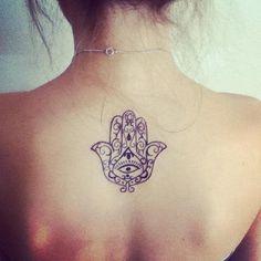 30 Cool Hamsa Tattoo Ideas with Meanings #ideas #tattoo #hamsa