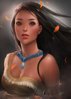 Pocahontas by *sakimichan on deviantART #illustration #disney #pocahontas