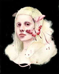 Soey Milk #woman #illustrator #butterfly #paint #illustration