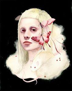 Soey Milk #woman #illustrator #butterfly #paint #illustration