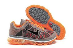 Mens Air Max 2011 Spray Point Grey Black Orange Shoes #shoes