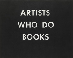 'ARTISTS WHO DO BOOKS', Edward Ruscha, 1976 | Tate