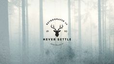 Vintage Logo Concept done for practice. KYRIAKOS KOKKINOS #antlers #settle #graphic #mist #stag #trees #photography #wood #forest #never #winter