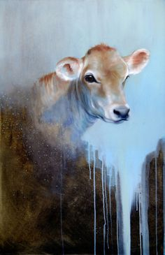 Peace cow | Oil on canvas #sweet #painting #cow