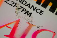 Poster #colors #letterpress #poster #neon