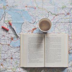 inspiration, map, coffee
